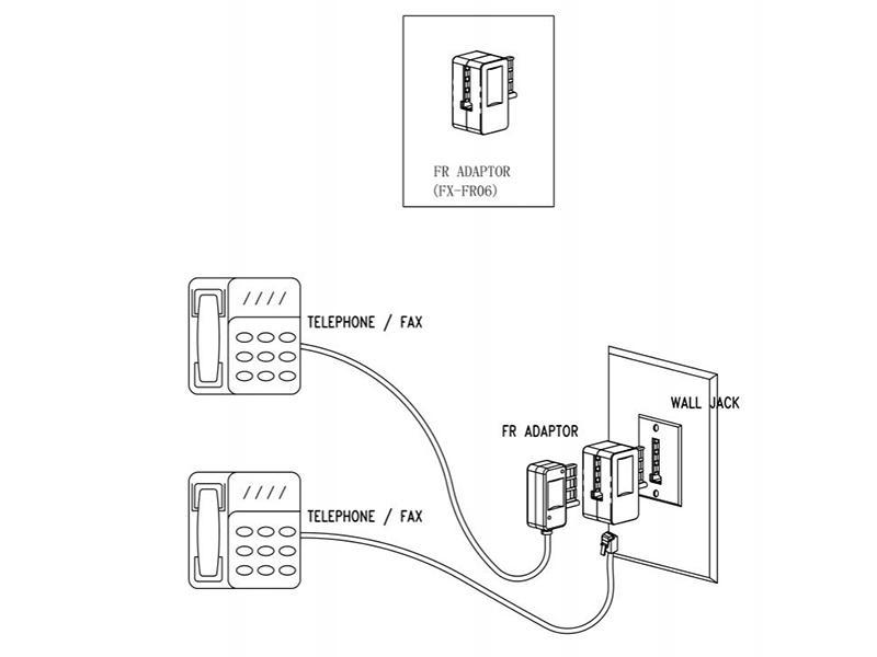 Telephone Adapter French Socket